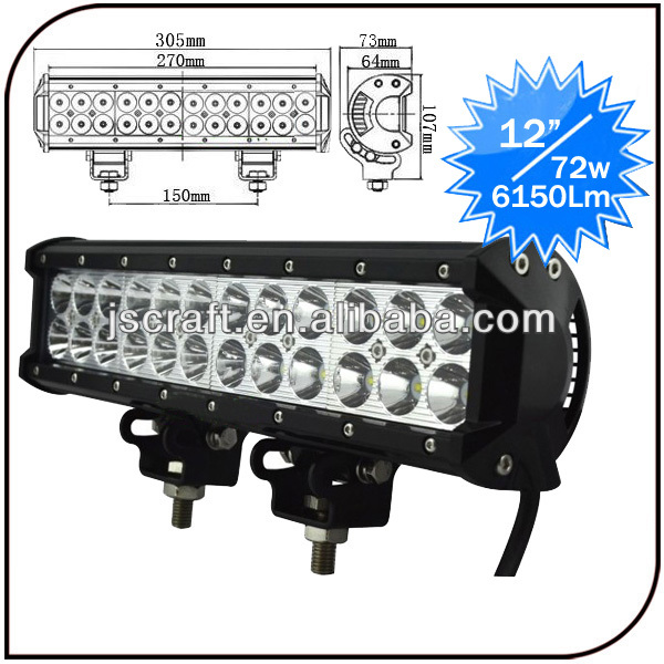 "High Power 12-30V 12"" Offroad 4x4 IP68 72w Led Light Bar for <strong>Car</strong>"