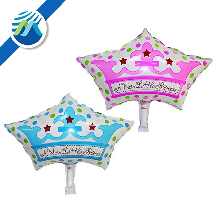 Mini Crown Prince Princess Wedding Aluminum Balloons Children's Birthday Party Decoration Foil Balloon