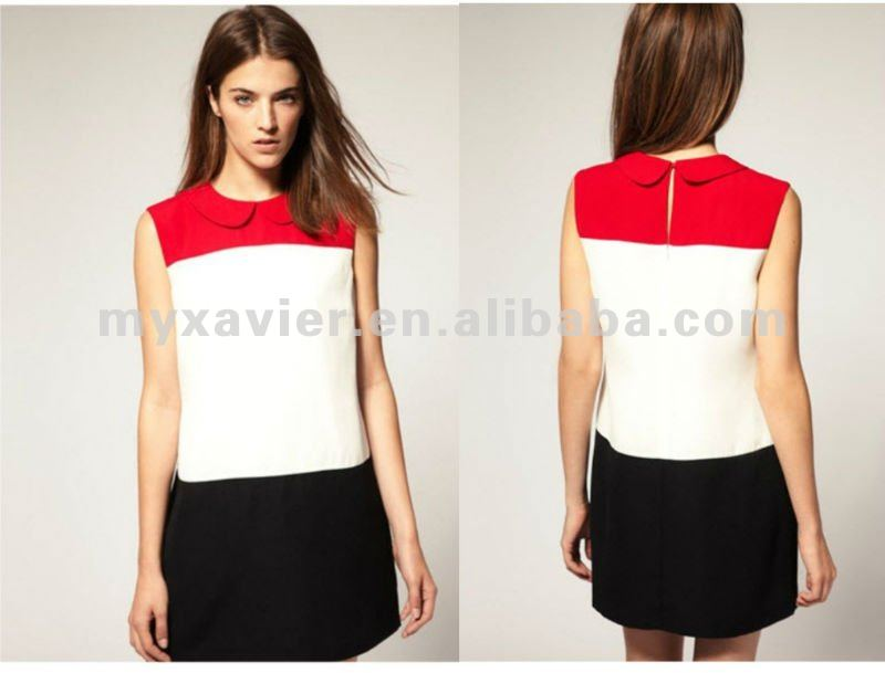 beautiful girl without dress, color combinations of dresses, ladies colorblock dress (S1029)