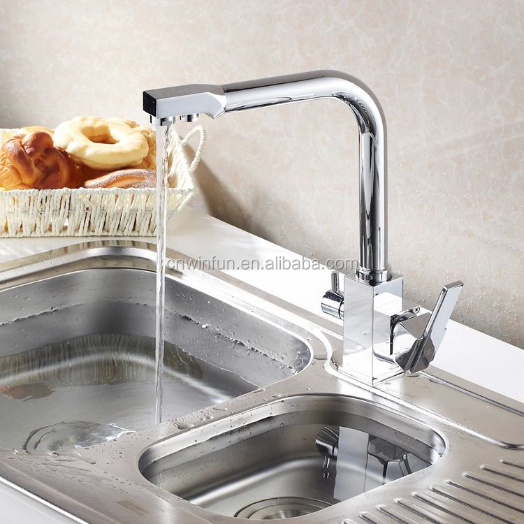 Beautiful Purifier Drinking Water Tap Kitchen Faucet With 2 Outlet/square Kitchen  Faucet/kitchen Sink