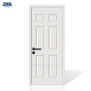 JHK-006 6 Panel Cheap Hollow Core Interior Doors White Primer Bathroom Wood Door Design
