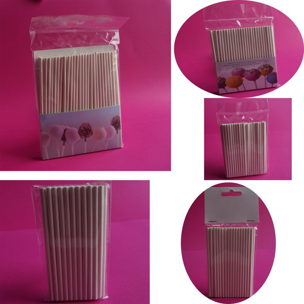 food grade cakepop sticks nieuw papier brood stokken