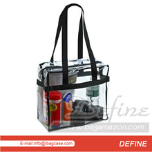 Clear Tote Bag With Shoulder Straps And Zippered Top Private Label Supplier