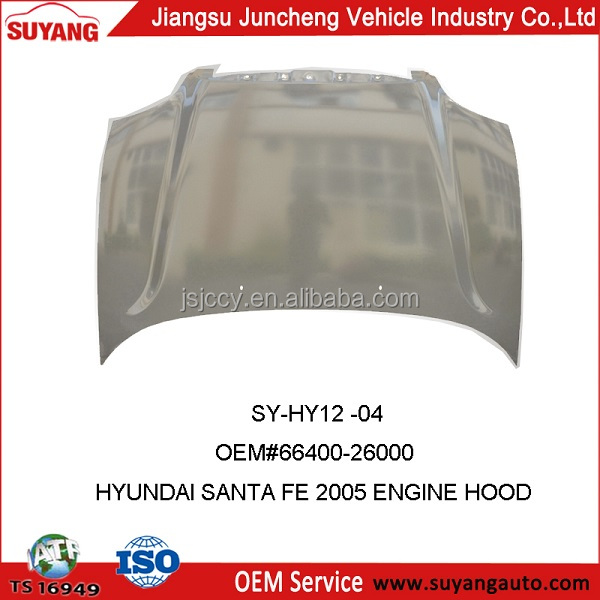 Auto Hood Bonnet Supplier for Hyundai Santa Fe 2007