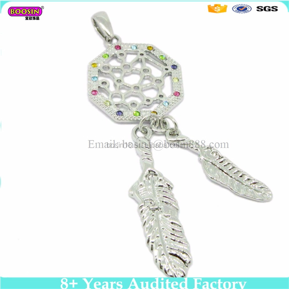 Wall Hanging Feather charm pendent Dream Catcher Decoration Ornament(110127-1)