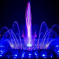 led light indoor water fountain outdoor music dancing water fountain for sale