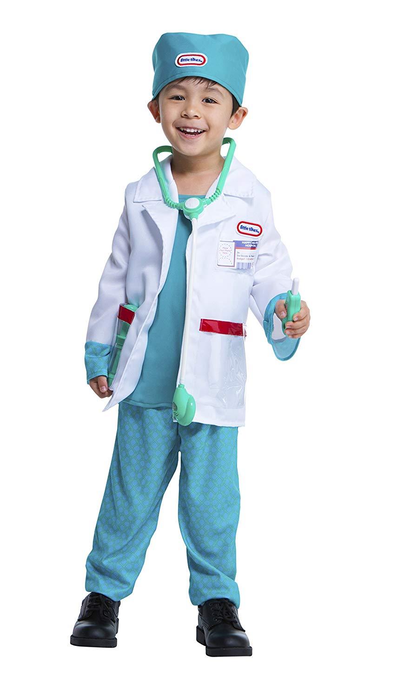Children Doctor Coat Adult Printed Surgeon Shirt Stethoscope Medical Accessorise