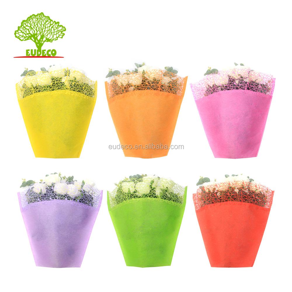 Di alta qualità impermeabile imballaggi fiore manica con mesh top per il fiore wrap e presina