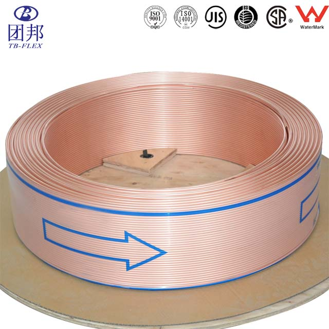 Copper pipes/Coil copper tubes/Coil copper pipes Inner Grooved Square Copper Tube Korea