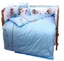 Promotion 10PCS Mickey Mouse Kids bedding sets baby crib bedclothes baby bedding crib sheets bumpers matress
