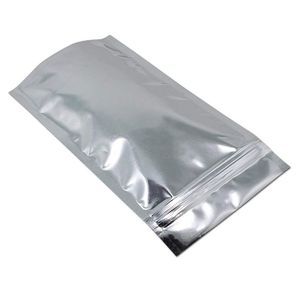 Resealable Ziplock Stand Up Pouch Bags lear Front with Aluminum Foil Back