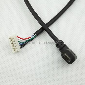 90 Grad Rechtwinklig Micro Usb Stecker Auf 2,54 Pitch 6 Pin Molex ...