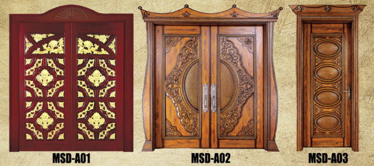 Indian style main wooden double door design view main for Home front door design indian style