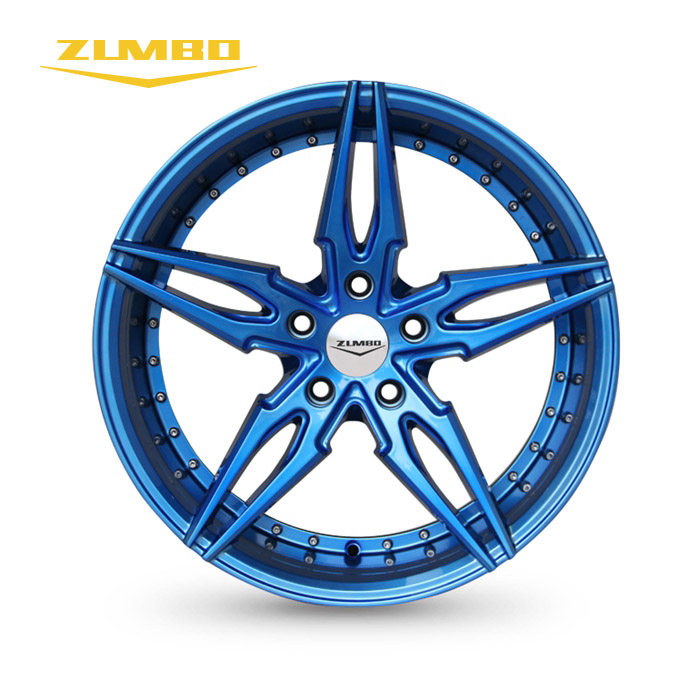 "Zumbo-S0049 Metal blue 17"" 18"" alloy wheel aluminum rims for customized Wheels Rim for MR2 SW20 FC3S RX7 S13 S14 FC Z32"