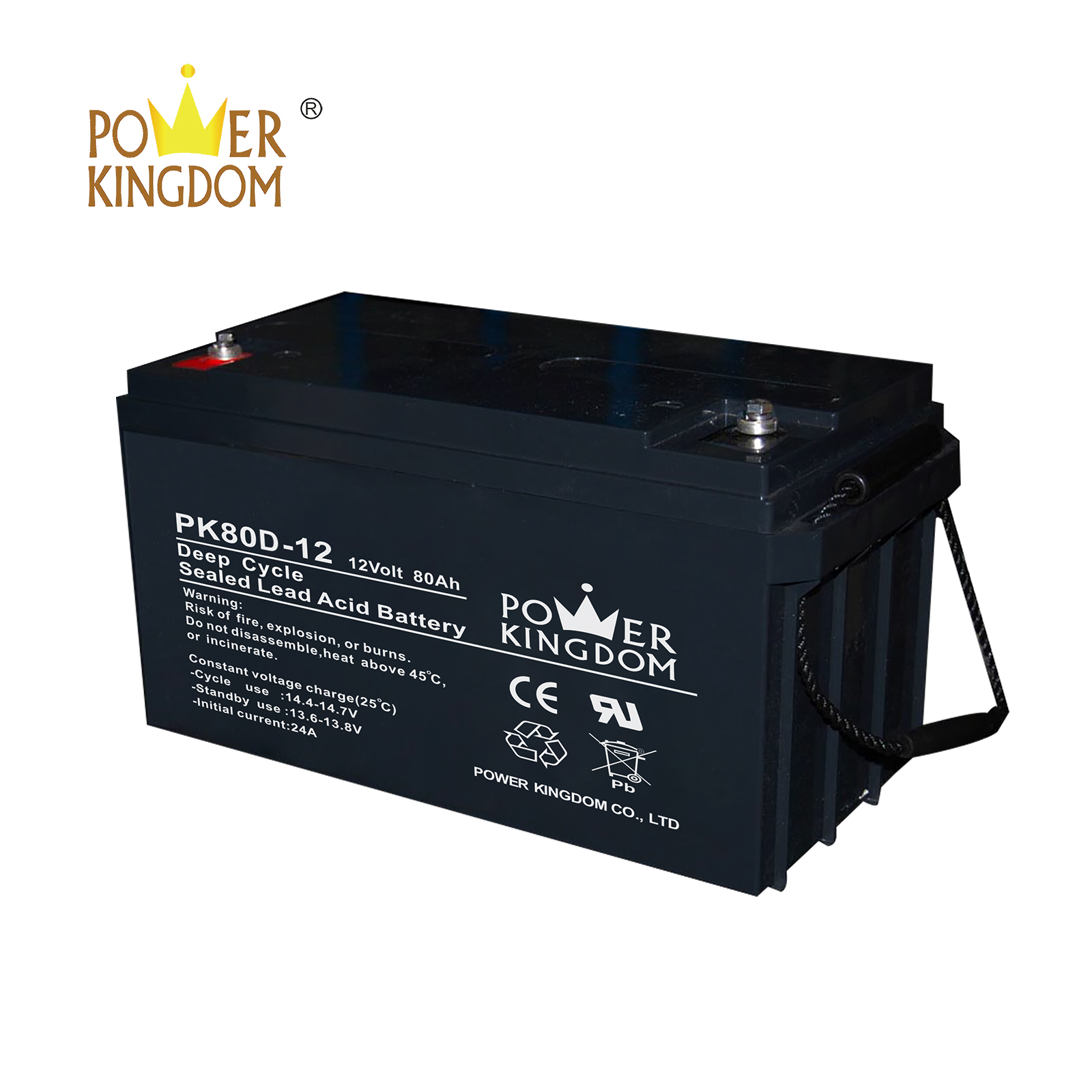 Power Kingdom flooded deep cycle battery wholesale deep discharge device
