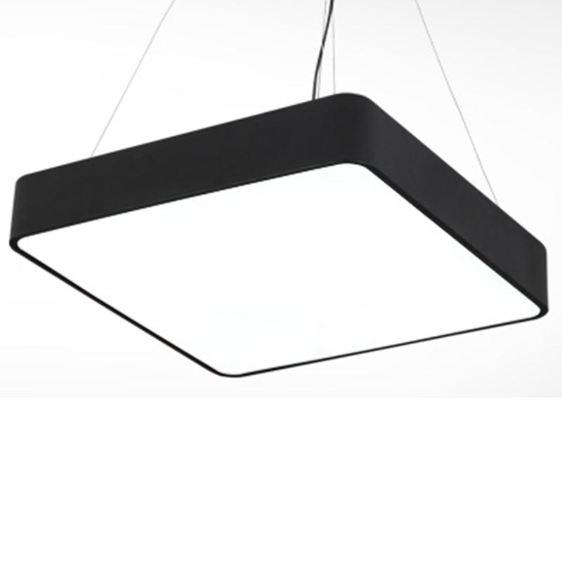 Hot Led Square Super Market Mall Ceiling Lamp Modern Simple Commercial Hanging Light Office Lighting
