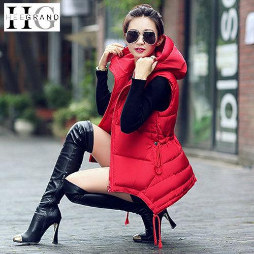 Длинная жилет женщины зима жилеты дамы закрытый воротник сплошной приталенный пальто Coletes Femininos верхняя одежда WWV182