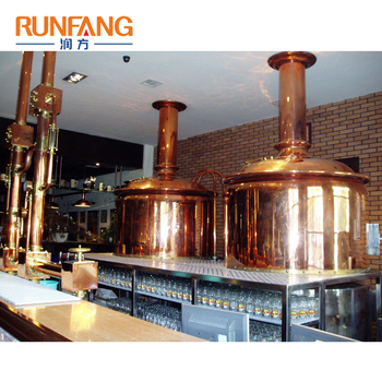 800l Brewhouse Rose Copper Decorated Brewing Beer Equipment