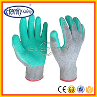 Wear comfortable safety glove Glove with latex coating good moq for clients