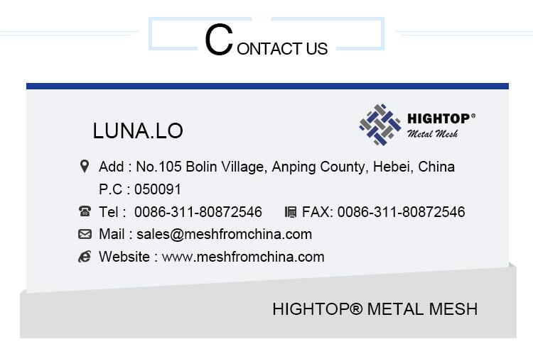 Vendita calda Popolare In Acciaio Inox Rete Metallica Decorativa Architettonica