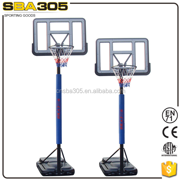 outdoor basketball stand with base