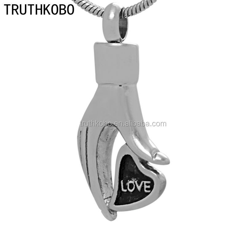 eternal couple love stainless steel pendants heart urns letter printing