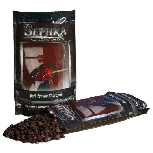 Sephra Premium Dark Fondue Chocolate for Chocolate Fountain, Kosher Dairy, Gluten and Trans Fat Free Dipping Chocolate, Chocolate Fountain Dark Chocolate Fondue, Best Baking Chocolate Chips, 4 LBS