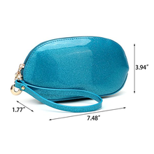Fashion candy color waterproof wrist-strap pouch bag cosmetic bag for girls
