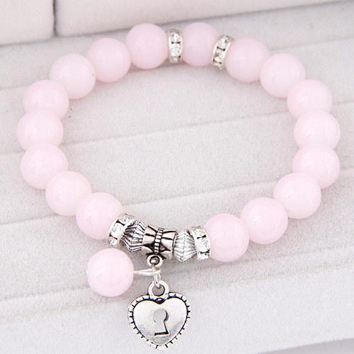 11 цветов Pulseira серебряное в форме сердца кулон браслеты браслеты для женщин Pulsera Mujer мода стеклянные бусины прядь браслет бижутерии 2015