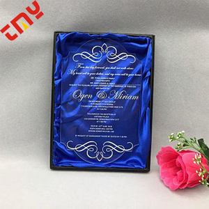 Acrylic Invitation Card Wedding ,Simple Wedding Invitation Card Material