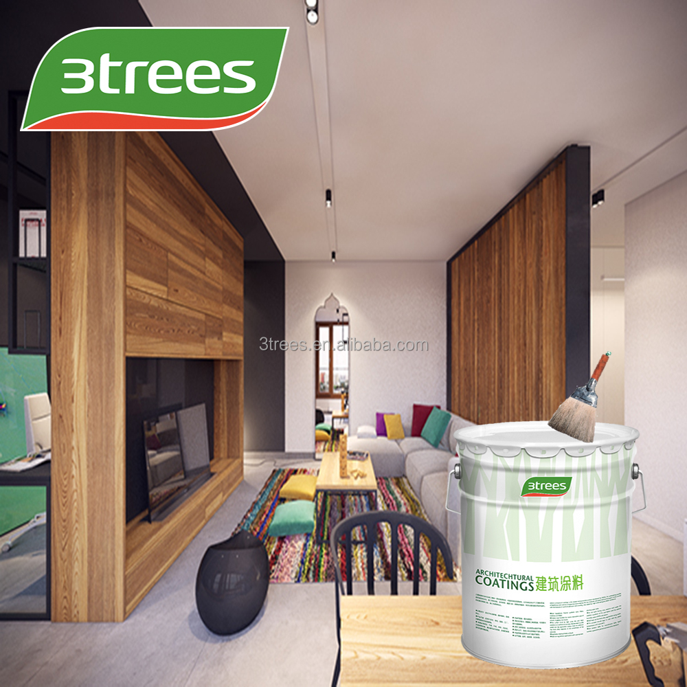 3trees Acrylic Satin Washable Interior Wall Finish Paint   Buy Wall  Paint,Acrylic Wall Paint,Waterbased Wall Paint Product On Alibaba.com