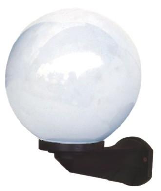 Morden Plastic White Globe Garden Wall Lamp E27 Outdoor Wall Light Fixture
