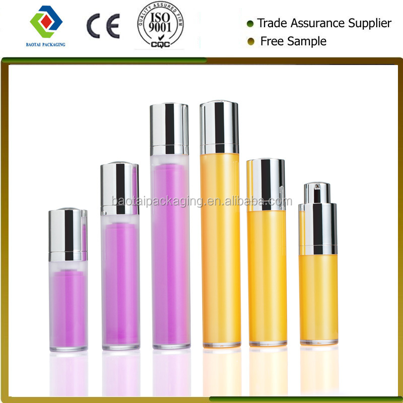 15ml 30ml 50ml China manufacturer frosted plastic round rotating airless bottles