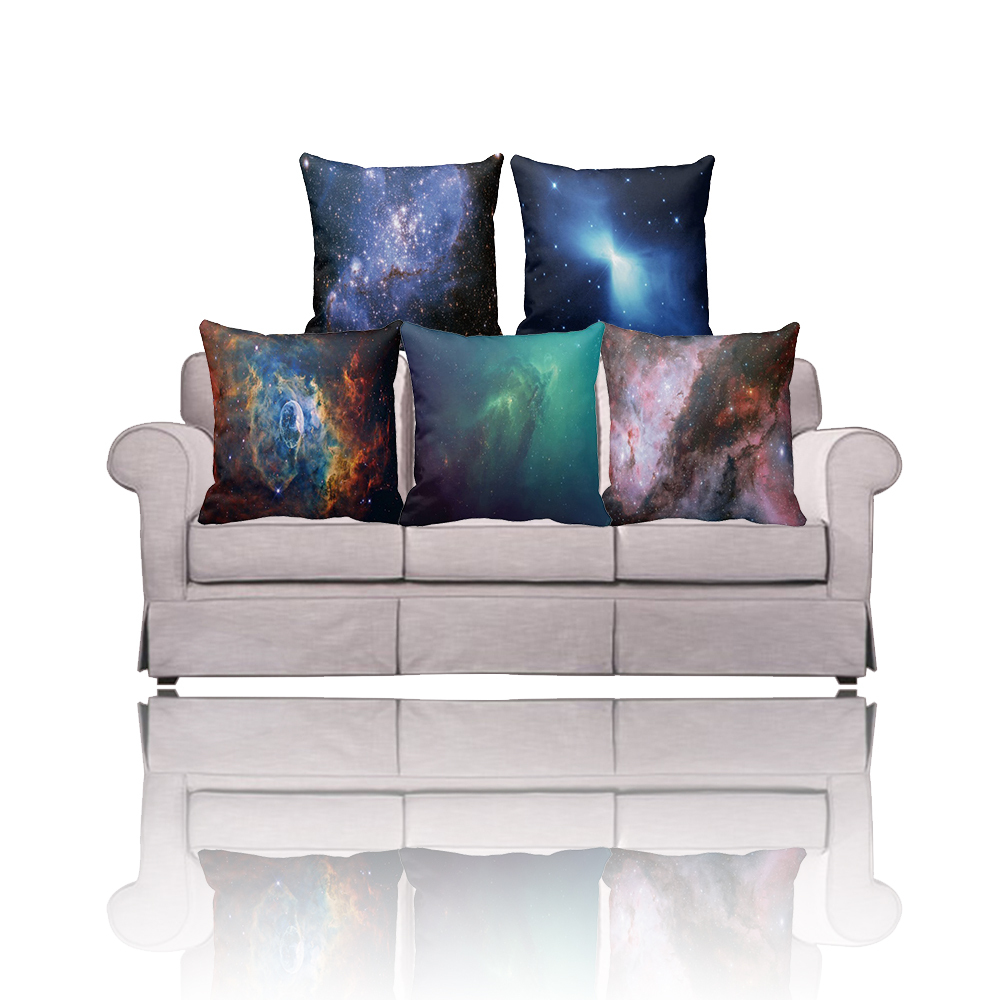 Stunning design Psychedelic Galaxy pattern print outdoor lumbar pillow cover,Decorative pillowcase for couch/sofa cushion covers