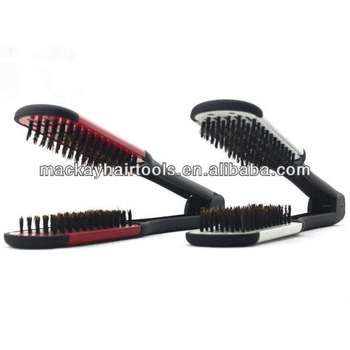 Boar Bristle Double Sided Hair Straightening Brush