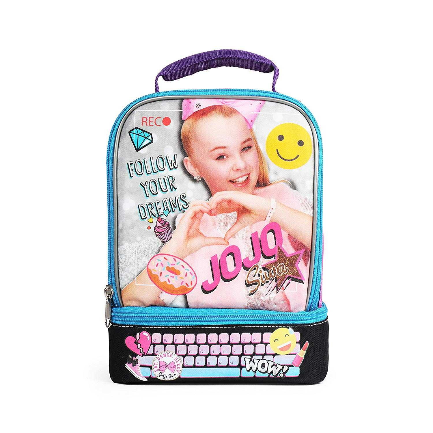 Nickelodeon JoJo Siwa Awesome Purple Insulated Dual Compartment Lunch Kit