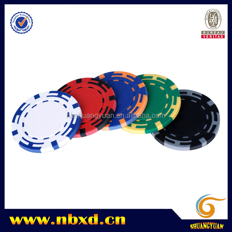 14g 2 Color Z Striped Clay Poker Chip