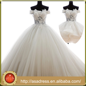 New Style Ball Gown Wedding Dress For Bridal Tulle Bridal Dress Real ...
