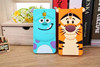 2015 Cute animal Silicone mobile Phone case/cover with cartoon