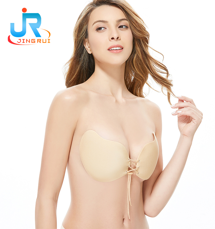 e6a7103395745 2017 Silicone Backless Extreme Push Up Adhesive Sticky Strapless Bra With  Drawstring