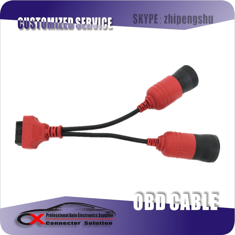 Professional Custom Made Auto OBD Splitter Y Cable with high quality