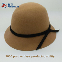 fashion wholesale winter girl wool felt bucket hat