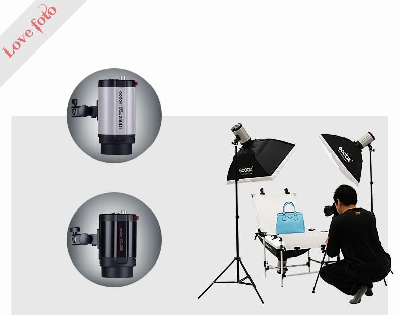 3x250 w 250di studio strobe lumi re photo flash clairage kit lampe 250 watts pour portrait mode. Black Bedroom Furniture Sets. Home Design Ideas