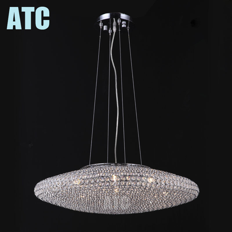 AT880010 silver chain indian K9 crystal panel lighting pendant light