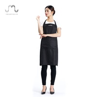 workshop barista cafe branded sublimation promotion waitress salon server apron smock printed with pocket price