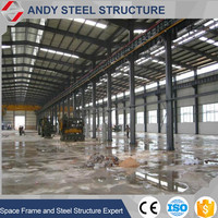 Prefabricated Space Frame Metal Shed Steel Structure/Famous Steel Structure Buildings/Tubular Steel