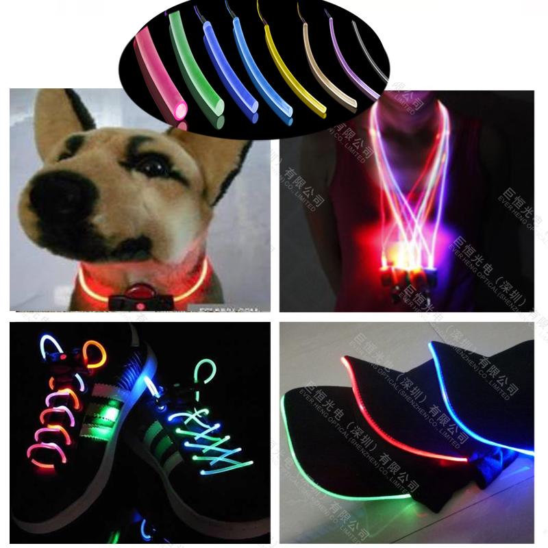 Rgb 3mm Plastic Tpu Side Emitting Optic Fiber For Led Light Dog ...