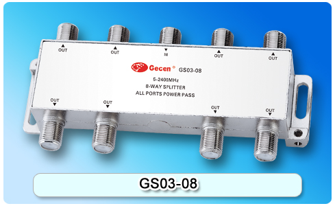 GECEN 5-2400MHz Satellite TV SATV 8-Way Splitter GS03-08