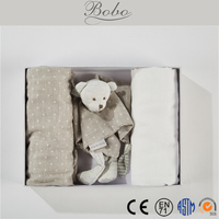 Baby gifts 100% cotton woven throw blanket