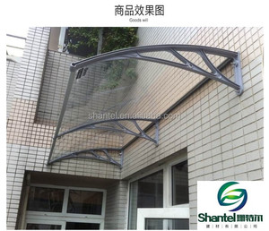 DIY easy install window door polycarbonate awning plastic canopy